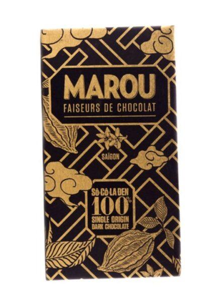 Socola đen nguyên chất 100% Marou Chocolate thanh 60g