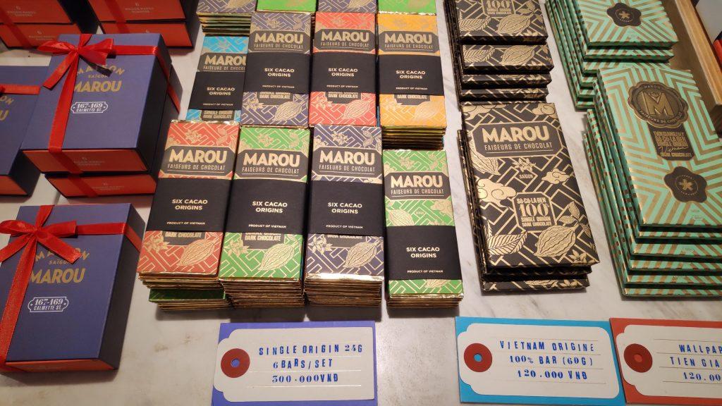 Socola Maison Marou Chocolate được đóng gói thủ công vô cùng đẹp mắt