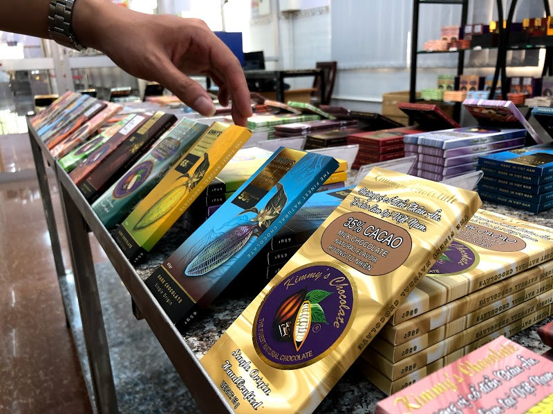 Sản phẩm socola đa dạng về mẫu mã và hương vị