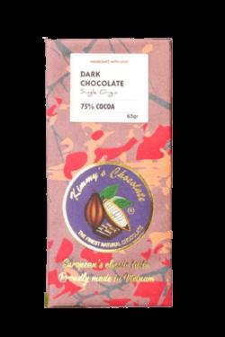 Socola - Socola đen nguyên chất Kimmy's Chocolate Việt Nam 75% cacao thanh 65g KMB04