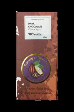 Socola - Socola đen nguyên chất Kimmy's Chocolate Việt Nam 90% cacao thanh 65g KMB06