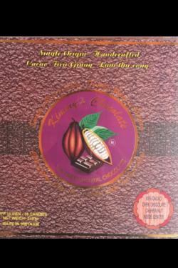 Socola - Socola đen nhân hạt điều Kimmy's Chocolate Việt Nam 65% cacao hộp 16 viên 240g KMG05