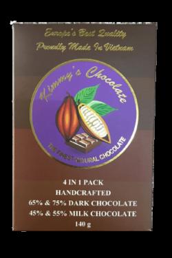 Socola - Socola đen nhân thập cẩm Kimmy's Chocolate Việt Nam 65% cacao hộp 16 viên 240g KMG08