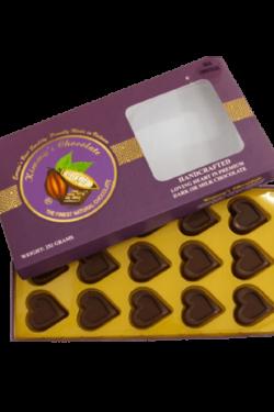 Socola - Socola đen trái tim Kimmy's Chocolate Việt Nam 65% cacao hộp 15 viên 252g KMG01