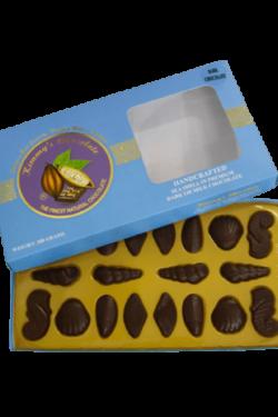 Socola - Socola đen vỏ sò Kimmy's Chocolate Việt Nam 65% cacao hộp 20 viên 200g KMG02
