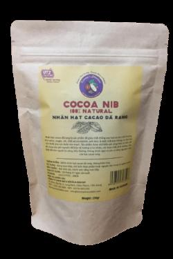 Cacao - Cacao nib nguyên chất Kimmy's Chocolate Việt Nam 100% cacao gói 250g KMP06