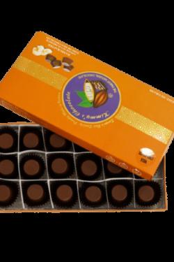 Socola - Socola đen nhân mứt gừng Kimmy's Chocolate Việt Nam 65% cacao hộp 18 viên 252g KMG09