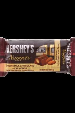 Socola - Socola kem sữa nhân hạnh nhân Hershey's Nuggets gói 56g HSB06