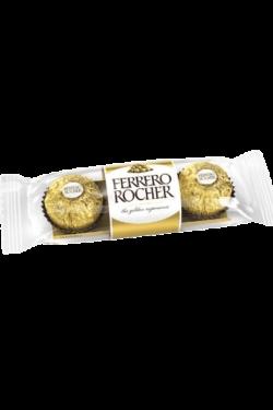 Socola - Socola sữa nhân hạt phỉ Ferrero Rocher 3 viên 37.5g FRBO1