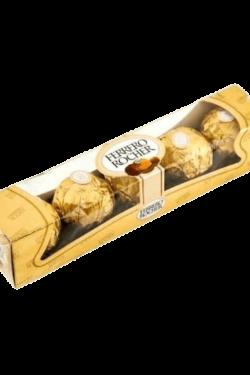 Socola - Socola sữa nhân hạt phỉ Ferrero Rocher gói 5 viên 62.5g FRBO2