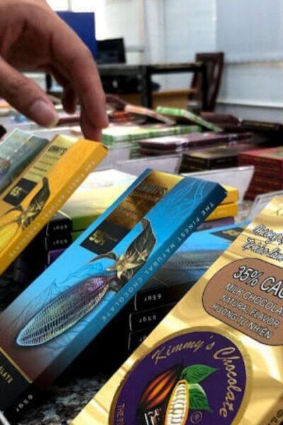 Các sản phẩm của Kimmy's Chocolate được đóng gói kỹ lưỡng, đẹp mắt