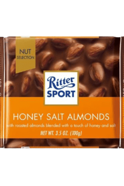 ZingSweets - Kẹo Socola với hạt hạnh nhân mật ong Ritter Sport thanh 100g RSB16