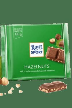 ZingSweets - Kẹo Socola với hạt phỉ Ritter Sport thanh 100g RSB17