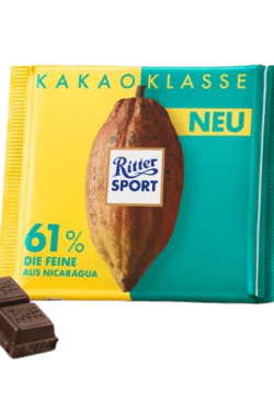 ZingSweets - Socola đen 61% cacao Ritter Sport thanh 100g RSB13