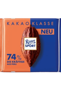 ZingSweets - Socola đen 74% cacao Ritter Sport thanh 100g RSB15