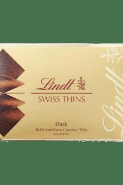 ZingSweets - Socola Lindt Swiss thins Dark 125g LLB15