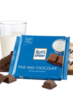 ZingSweets - Socola nhiều sữa Ritter Sport thanh 100g RSB09