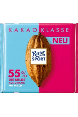 ZingSweets - Socola sữa 55% cacao Ritter Sport thanh 100g RSB07