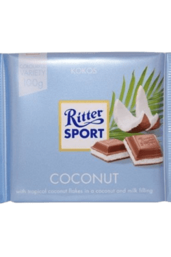 ZingSweets - Socola sữa nhân dừa Ritter Sport thanh 100g RSB05