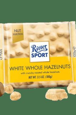 ZingSweets - Socola trắng nhân hạt phỉ Ritter Sport thanh 100g RSB11