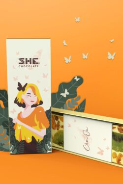 ZingSweets Chocolate - Socola 54% trái cây She Chocolate Việt Nam thanh 50g SHB09