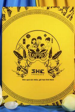 ZingSweets - Hộp quà Tết 2021 Câu Chuyện Mùa Xuân II She Chocolate Việt Nam Hộp vàng SHB05